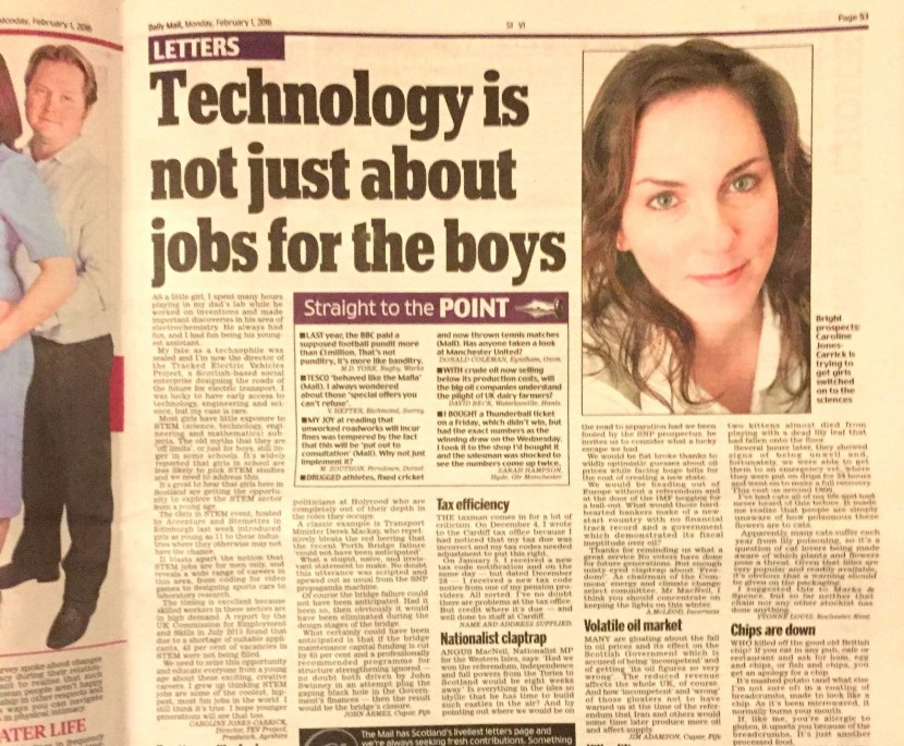 Not just jobs for the boys…
